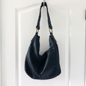 Lucky Brand Vintage inspired black leather bag